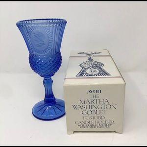 Avon Fostoria Glass Martha Washington Cobalt Blue
